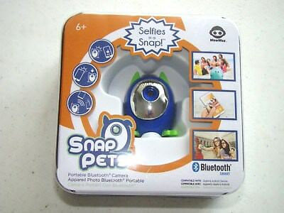 "Wow Wee Snap Pets Selfies In A Snap Portable Bluetooth Camera ""New In Box"""