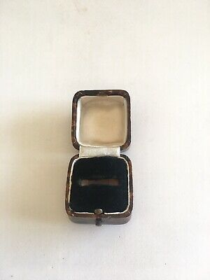 Antique/Vintage Early 20Th Century Ring Box Jewellery Display Presentation Case