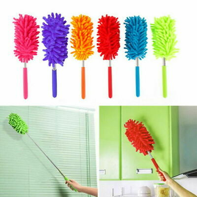 78cm Extendable Magic Microfiber Cleaning Duster Long-Reach Washable Brush US
