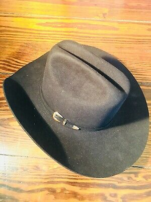 e08055ce43dc8 Resistol Mens Self Conforming Long Oval Shaped Western Cowboy Hat Size 6 7 8