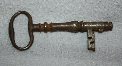 Antique Cast Iron Barrel Key Skeleton Door Church Jail Prison Castle, Gate #2