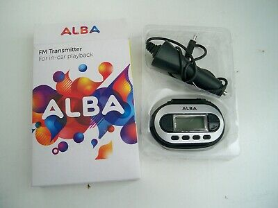 Alba FM Transmitter For In Car Playback