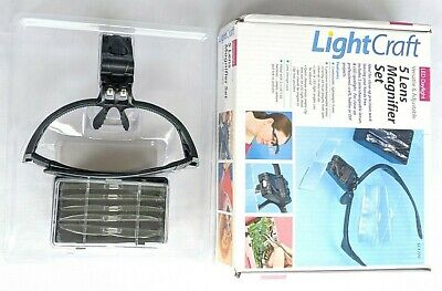 Light Craft 5 Lens Magnifier Set Lc1770 Headset And Lenses