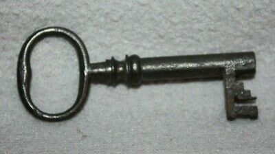 Antique Cast Iron Barrel Key Skeleton Door Church Jail Prison Castle, Gate # 9