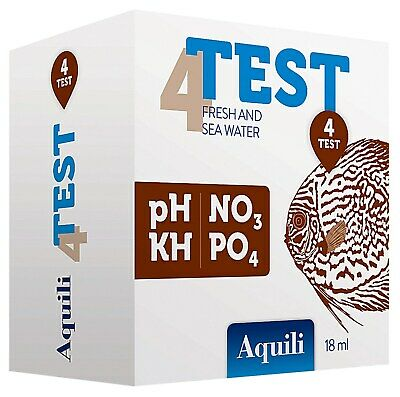 Aquili Test Per Acquari D'acqua Dolce E Marina 4 In 1 Ph Kh No3 Po4
