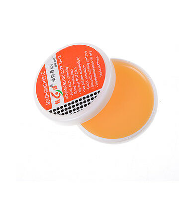 1Pcs 50g Soldering Paste Solder Flux Grease Syringe High Intensity Rosin MLD