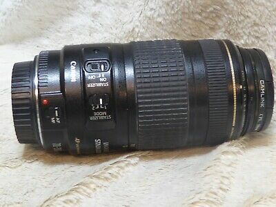 CANON EF 70-300MM F4-5.6 IS USM LENS  + polarizer and uv filter VGC