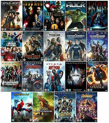 AVENGERS MARVEL DISNEY 19 ALL MOVIE FILM DVD Complete Collection UK New ORIGINAL