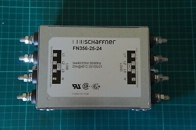 SCHAFFNER FN356-25-24 -  Power Line Filter, Chassis, 25 A, 250 V, 3 Phase + Neu