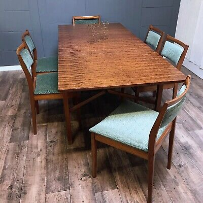 Stunning Mid-Century G Plan Dining Table, Extending dining table and chairs