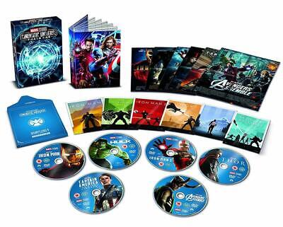 MARVEL CINEMATIC UNIVERSE 6 MOVIE FILM DVD Collection New + EXTRAS BOOK PHASE 1