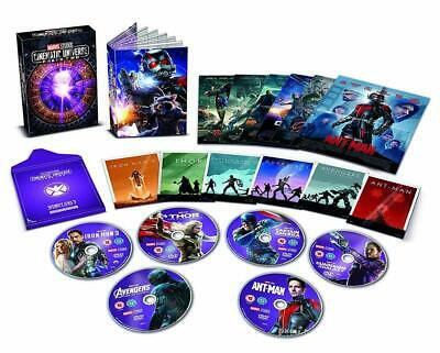 MARVEL CINEMATIC UNIVERSE 6 MOVIE FILM DVD Collection New + EXTRAS BOOK PHASE 2