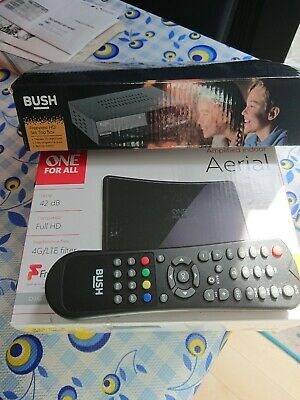 Bush cdvbt2 Freesat SD TV Receiver and one for all indoor aerial