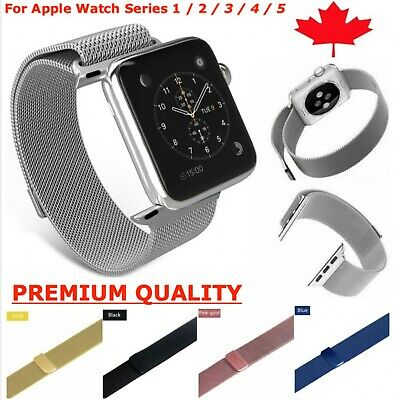 Magnetic Stainless Steel Milanese Band Strap for Apple Watch (Series 1 2 3 4)