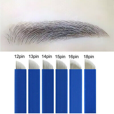 Permanent Eyebrow Tattoo Blade Microblading Needles Manual Makeup Embroidery