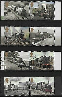 GB 2014 sg3570-77 Classic Locomotives Set Of 8 Booklet Stamps MNH