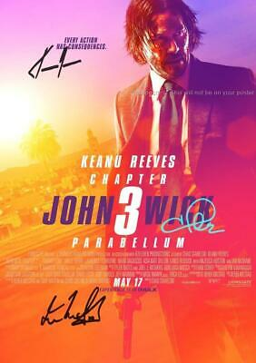 "John Wick Chapter 3 Pp Signed 12""X8"" A4 Photo Poster Keanu Reeves Halle Berry"