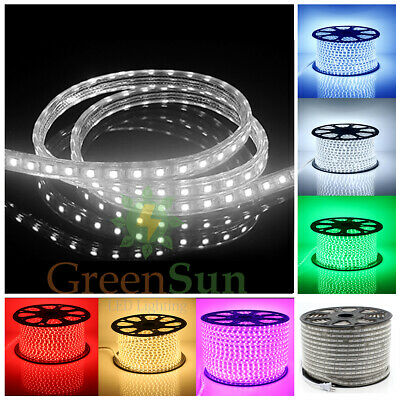 20M-100M LED Strip IP68 Waterproof 5050 Flexible Lights Rope Cold/Warm White UK
