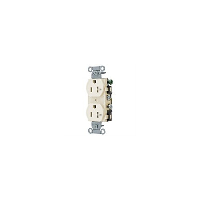 Pack of 10 Hubbell CR20LATR 20Amp 125VAC Duplex Receptacle