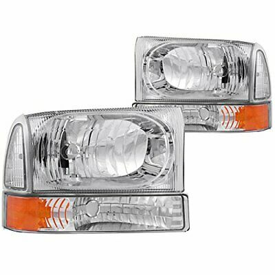 Anzo USA 111005 Chevrolet Crystal with Halo Carbon Headlight Assembly Sold in Pairs