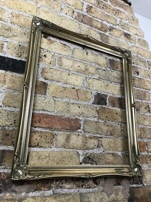 Vintage Rococo Baroque Gold Gilt Gesso Detail Wooden Picture Frame, Very Large