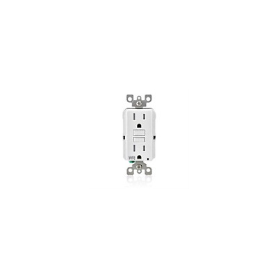 Pack of 10 Leviton GFWT1-W SmartlockPro Slim GFCI LED Receptacle