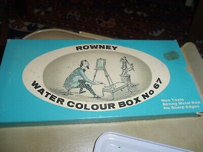 Vintage George Rowney & Company Limited Watercolour Paint Tin Box No 67