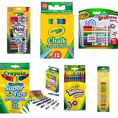 Crayola Crayons Set Of Mini Markers, Supertips, Chalk Free Free Delivery