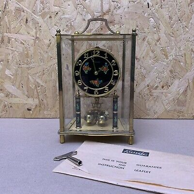 Vintage Brass Kundo Anniversary 400 Day Carriage Clock With Key & Manual