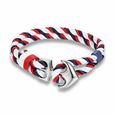 Anchor Bracelets Men Charm Nautical Survival Rope Chain Paracord Bracelet Male