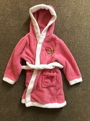 TU Girls Aurora Pink Dressing Gown - Size 4-5 years