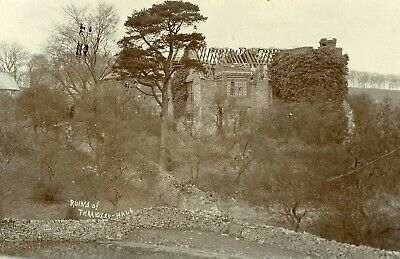Throwley Hall Rare Superb RP Ruins of Throwley Hall by Hansen, Ashbourne c1906