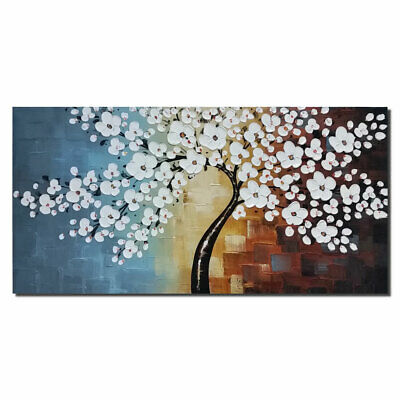 Large Original Hand Paint Canvas Paintings Pic Flower Tree Home Decor Wall Art