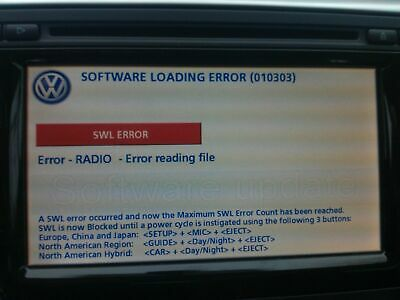 VW RNS510 & Rns810 Firmware Update Custom Made Recovery Disc