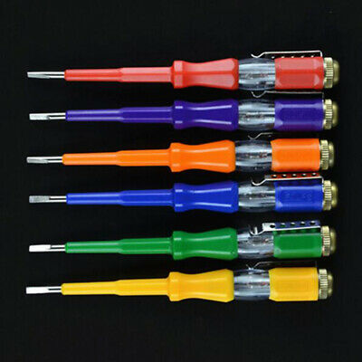 Electrician Tool Test Pencil With LED Light Slotted Screwdriver Voltage Meters