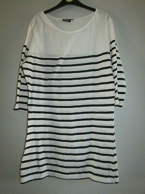 ladies white/navy blue stripe tunic top from Inspire at New Look size size 20