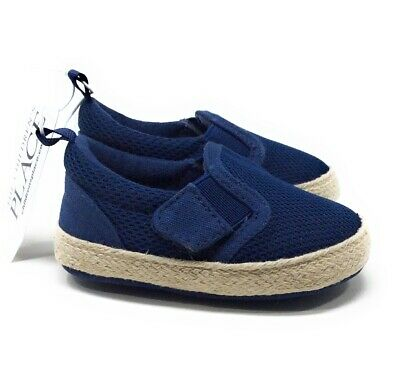 The Childrens Place Baby Boys Toddler Crib Shoes Navy Blue Size 3-6 Months