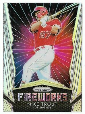 Mike Trout 2019 Panini Prizm Fireworks Silver Holo #F1 Angels Insert Parallel
