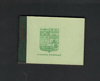 Canada Scott #104F Yellow Green VF OG Complete Booklet (4 Panes NH) Stamps