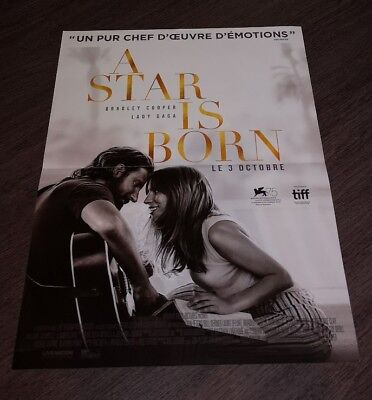 "Affiche cinéma originale ""A Star is born"" Lady Gaga / B.Cooper/40x60cm/2018"