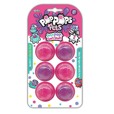 Pop Pops Pets 3, 6, and 12 Fluffy Slime Bubble Packs with Characters Yulu Age 5+
