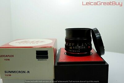 """Leica Summicron-R 50mm f/2 MF For Leica R Only Cam Lens Boxed #3097113 """"MINT"""""""