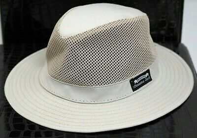 13102111a85952 PANAMA JACK ORIGINAL Mens Fedora Sun Cotton Linen Hat Safari Size ...