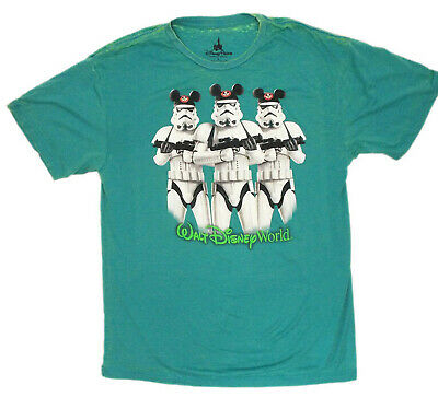 STORMTROOPERS with Mickey Ears T-Shirt (L) DISNEY WORLD STAR WARS STORM TROOPERS