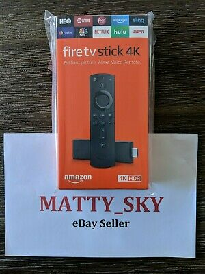Amazon Fire TV Stick 4K with Alexa Voice Remote (Latest 2018 Model) *NEW SEALED*