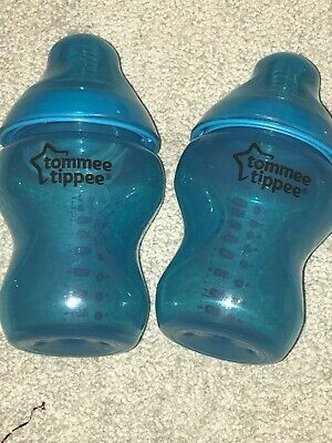 Tommee Tippee Colour My World Bottles X2 Turquoise Brand New