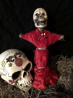 Authentic Voodoo Doll Red-With Pins