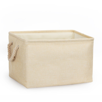 COSYLAND Storage Bin Box Shelf Basket with Handle Wire Large Capacity for Books