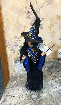 "RARE 15"" Annalee 'Casting a Spell' Witch Wand Potion Collectible Halloween Doll"