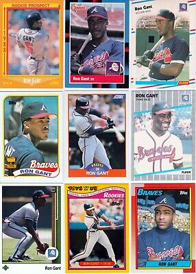 Ron Gant Lot Of 75 All Different Baseball Cards Reds Braves Victoria